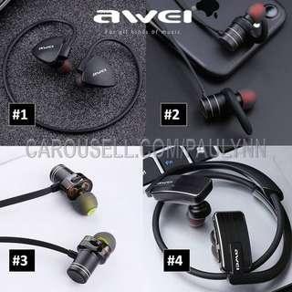 Awei Bluetooth Earphone Wireless Gym Headphone