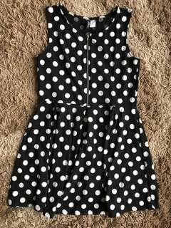 H&M Polkadot Short Sleeve Dress