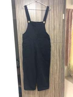🚚 黑 吊帶褲