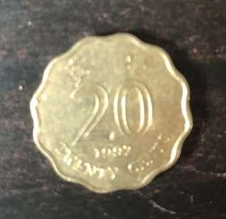 HK old coin 20 cents