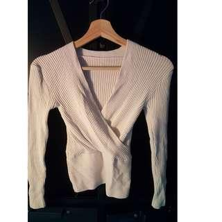 White Long Sleeves Top