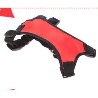 Dog Body Harness - Black and Red