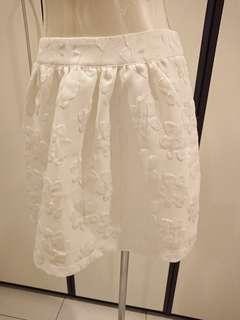 CNY Sales! White Floral Skirt Size M