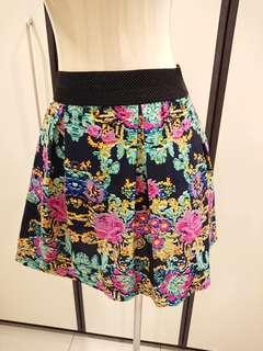 CNY Sales! Colourful Mini Skirt Size S
