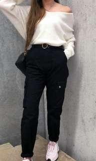 That's so fetch Black Cargo Pants (XS)