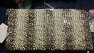 Pearl/Rhinestone studded Clutch