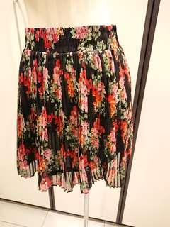 CNY Sales! Floral Pleated Mini Skirt Size S