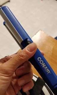 Portable hair straightening/perming machine
