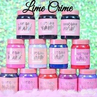 🚚 🖤 Lime Crime 🖤 Unicorn Hair Hair Dye