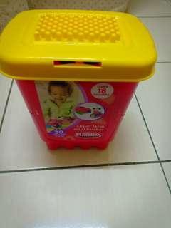 Playskool Clipo Farm Mini Bucket