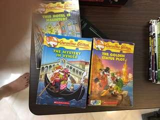 Geronimo Stilton Books[This hotel is haunted!,the mystery in venice,the golden statue plot]