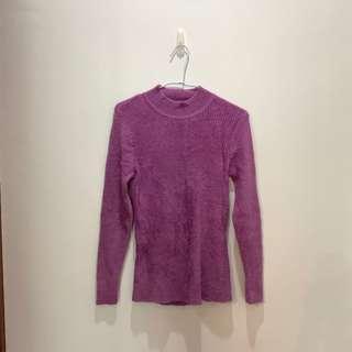 🚚 紫色立領毛衣