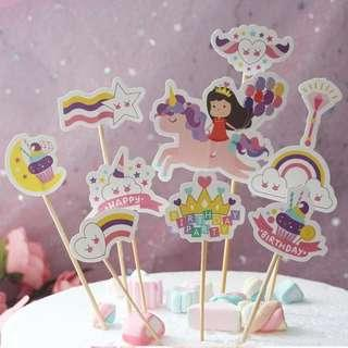 Birthday girl cake toppers unicorn cake toppers