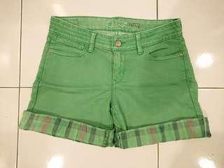 Levi's Green Denim shorts Size 26