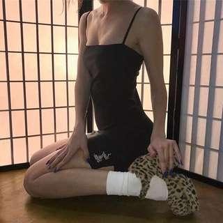 ✨PREORDER✨ A line basic black dress w 🐉