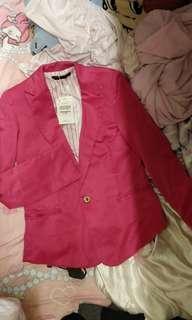 Shocking pink blazer 迷人桃紅西裝褸