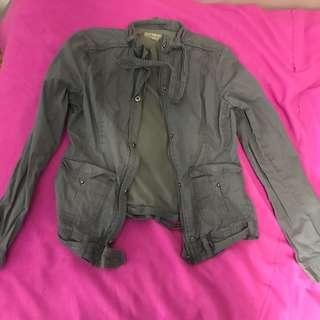Trendy olive/grey jacket ( SMALL)