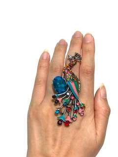 Glam Peacock Ring