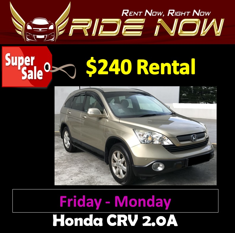 240 honda crv 2 0a weekend car rental cars vehicle rentals on rh sg carousell com