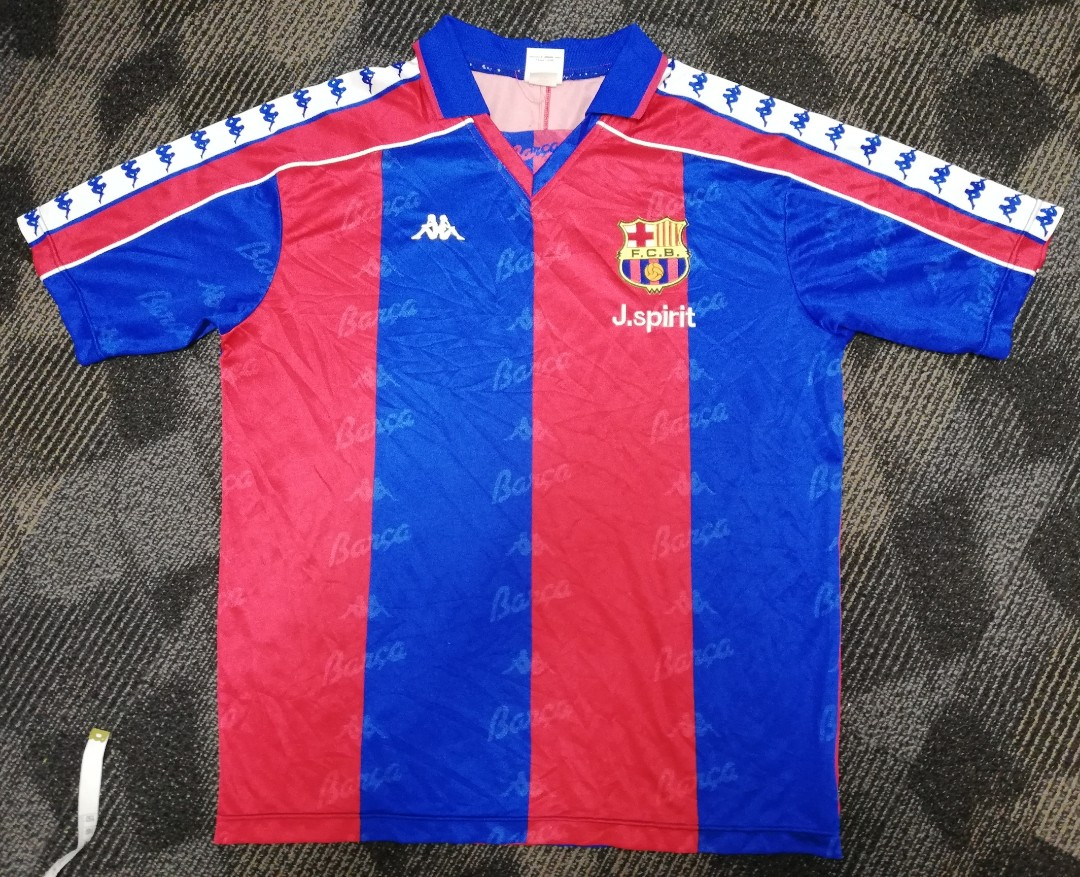 2c541855c4ae6c 90's Barcelona kappa jersey, Sports, Athletic & Sports Clothing on Carousell