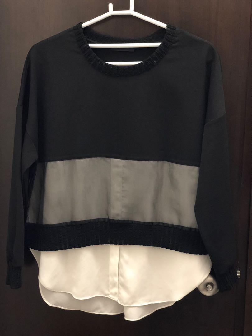 韓國品牌 Made in Korea 2-layer Drop Shoulder Top