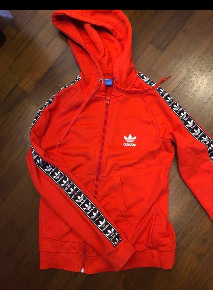 2886524e7e24e adidas side tape trefoil hoodie / jacket, Men's Fashion, Clothes ...
