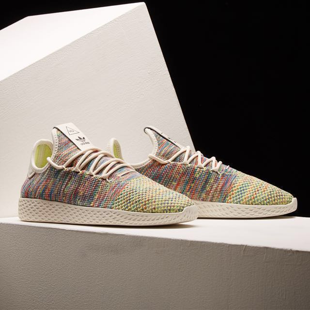 sneakers for cheap 17641 7f4b3 ... Authentic Adidas x Pharrell Williams Tennis Hu Pk (Multicolor), Mens  Fashion, Footwear ...
