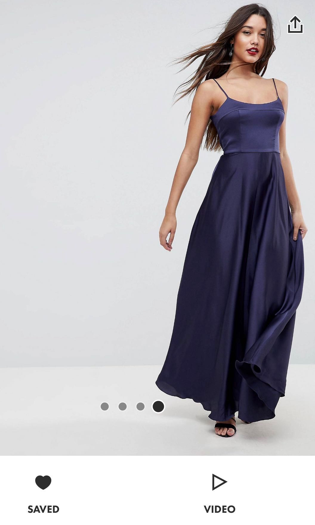 e2280ab537 Authentic ASOS Square Neck Maxi Dress
