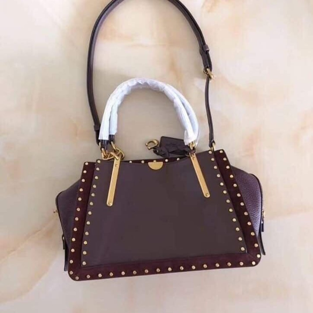 b07393fddb Authentic Coach 36 Dreamer with Rivets 31020 - Wine