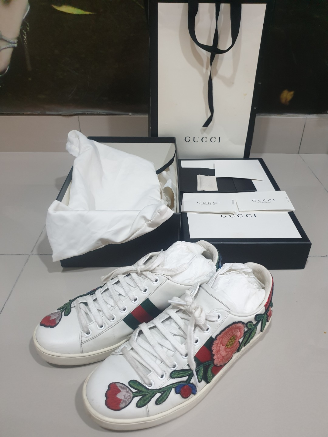 e443aa2ec Authentic Gucci Ace Embroidered Sneaker, Women's Fashion, Shoes on ...