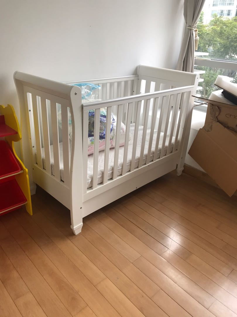 Baby Cot Bed Almost New One Year Old Babies Kids Cots Cribs