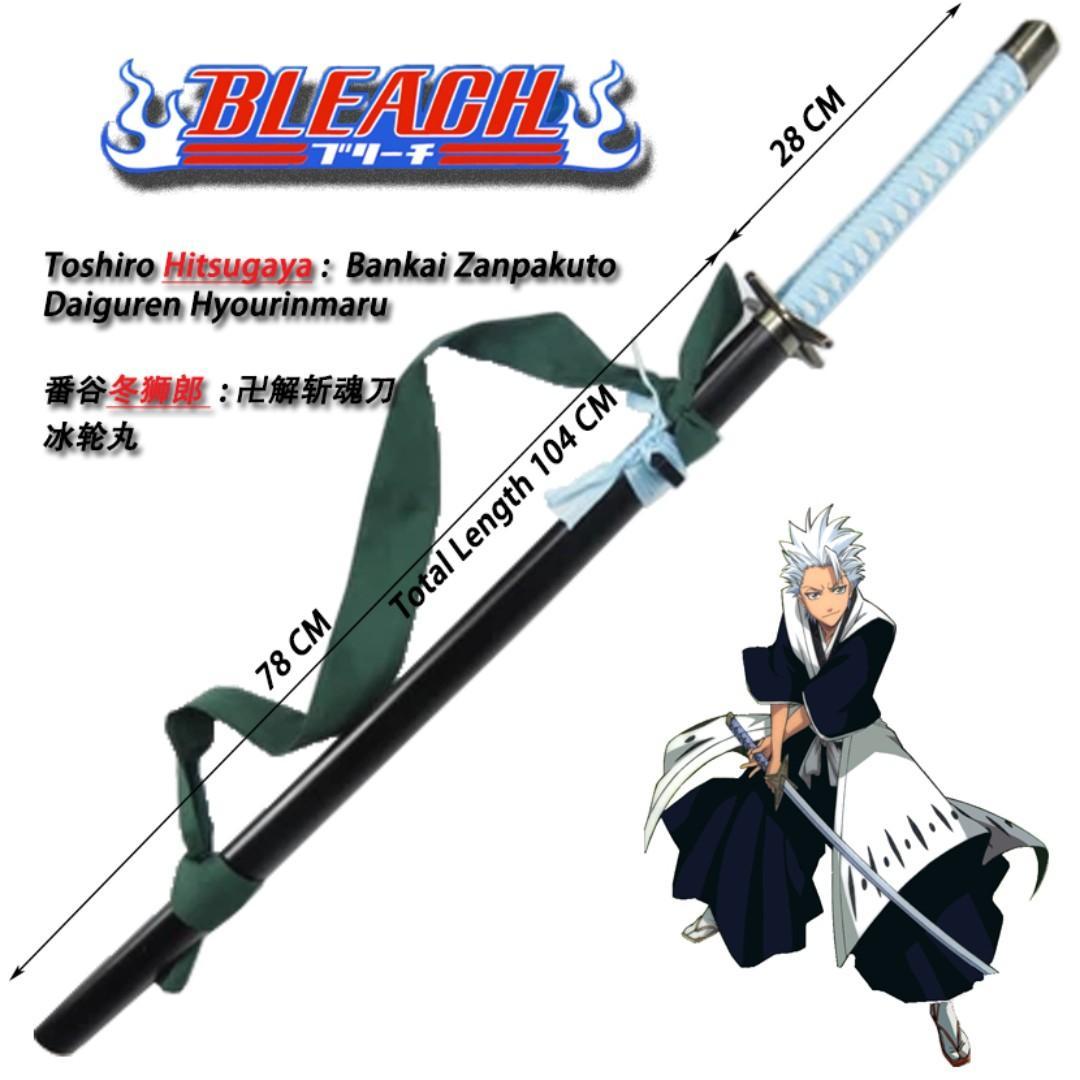 Bleach Toshiro Hitsugaya Zanpakuto Hyorinmaru Cosplay Wooden Sword Toys Games Others On Carousell