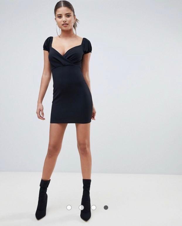 5f4e33c6b4e8 Boohoo Cap Sleeve Bodycon Mini Dress, Women's Fashion, Clothes ...