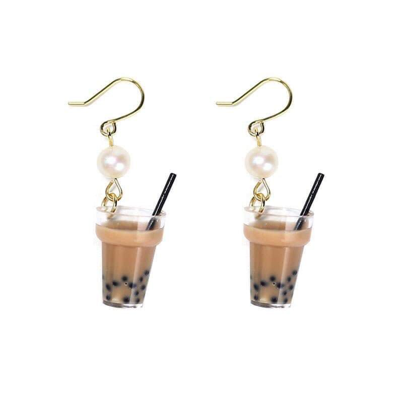 Image result for bubble tea earrings
