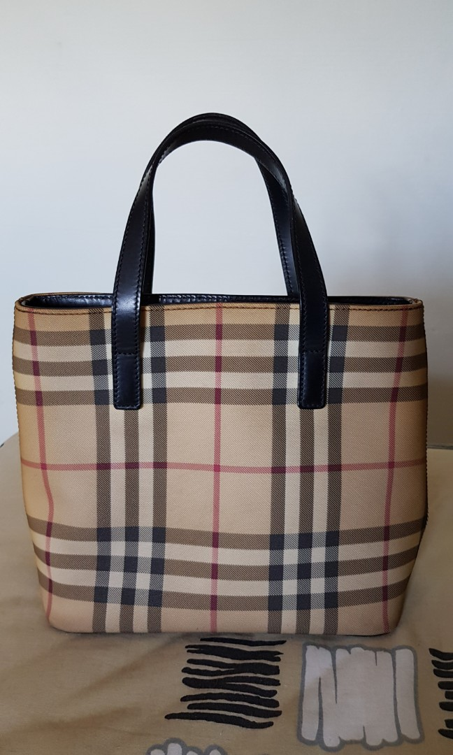 fbf6fae8db8 Burberry classic small tote bag, Luxury, Bags & Wallets, Handbags on  Carousell