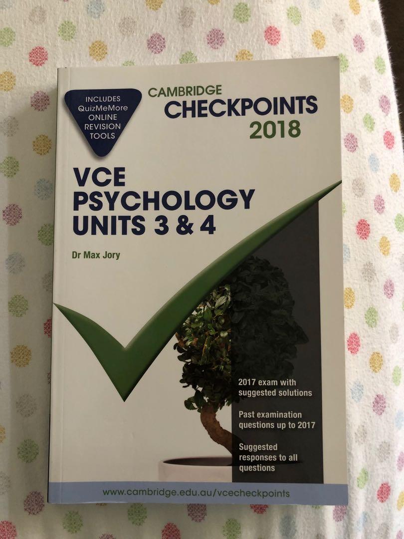 Cambridge Units 3/4 Psychology Checkpoints