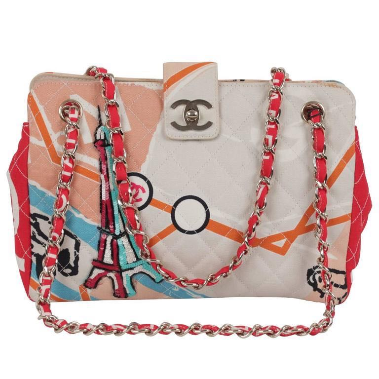 e0d26b708653 Chanel Multicolor Quilted Canvas Eiffel Tower