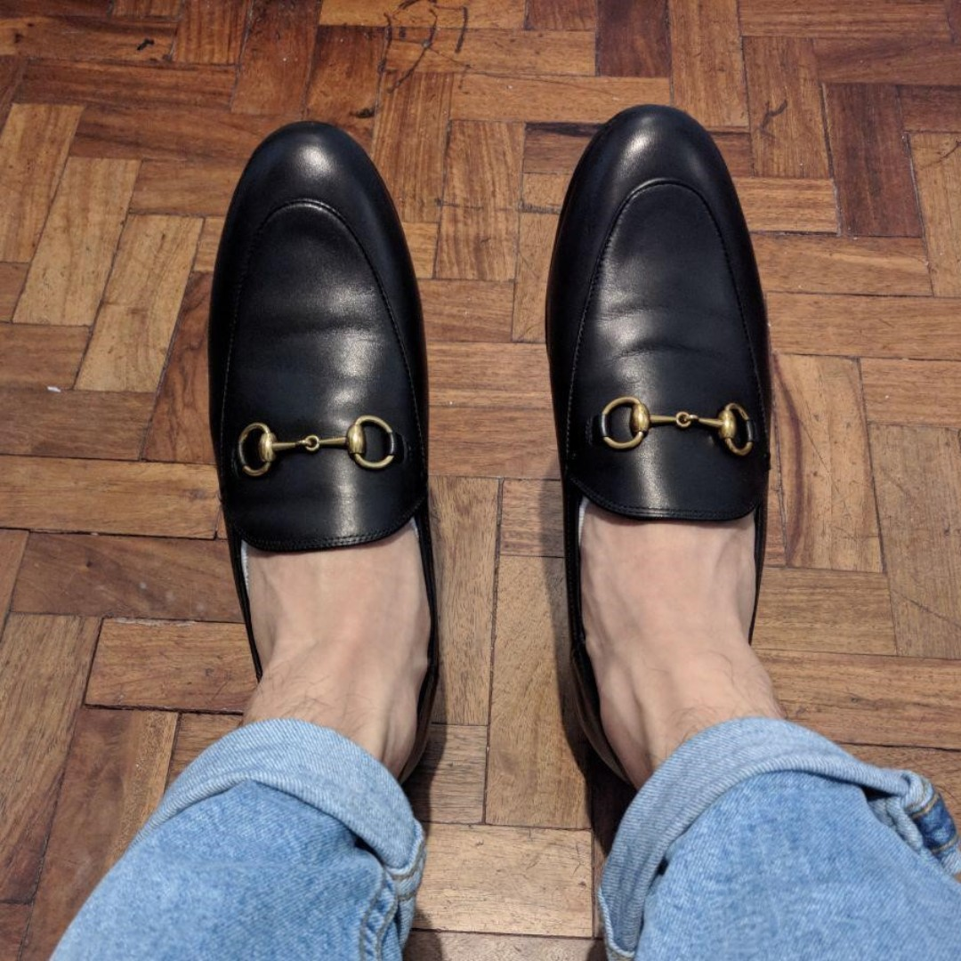 e40fa6659a3 Brand New Gucci Brixton Collapsible Loafer   Mules Hybrid