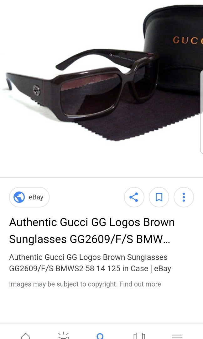 9e00029ca650 Gucci sunglasses authentic  code gg2609 F S