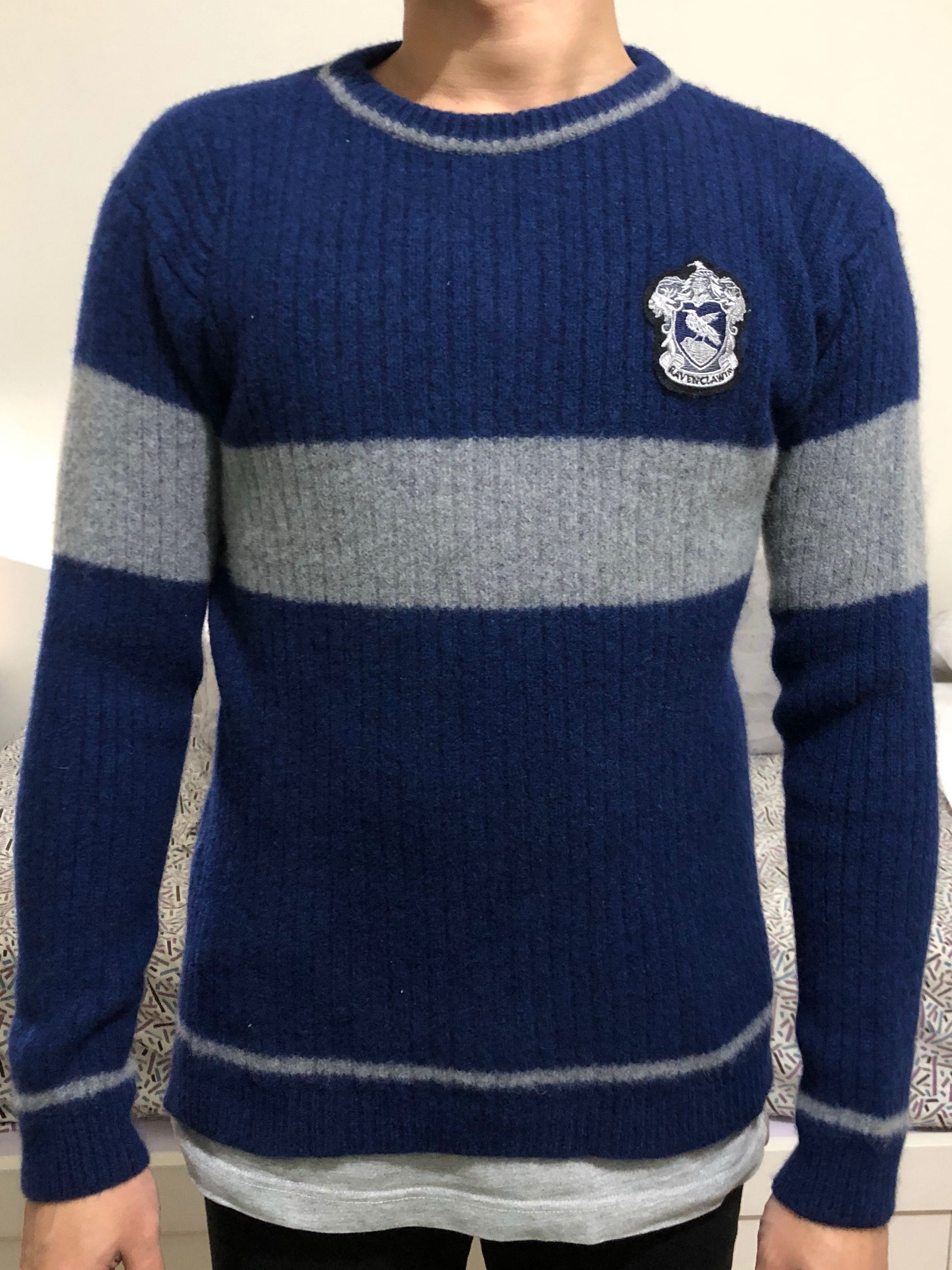 Harry Potter Ravenclaw Knitted Sweater Mens Fashion Clothes