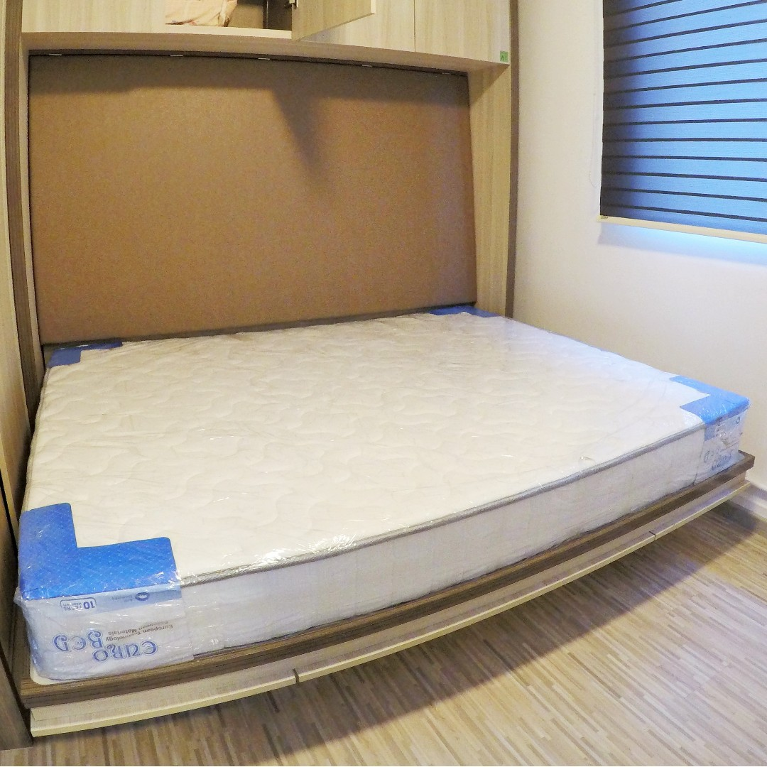 Horizontal Queen Bed Unit Hsauto Space Saving Hidden Wall Bed