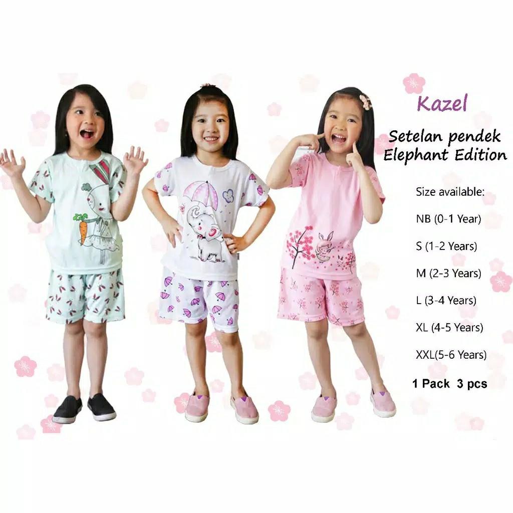 KAZEL SETELAN ELEPHANT EDITION ( ISI 3 PCS) SNI, Bayi & Anak, Baju