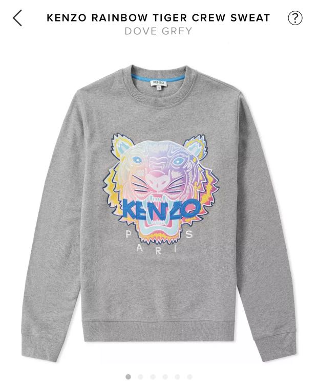 7cbded23 Kenzo Rainbow Tiger Sweatshirt, Luxury, Apparel, Men's on Carousell
