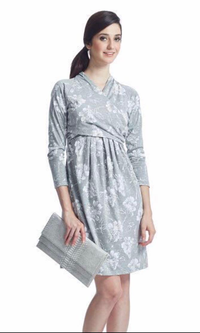 4c64c23a32194 Kimono Wrapfront Maternity Nursing Dress, Babies & Kids, Maternity ...