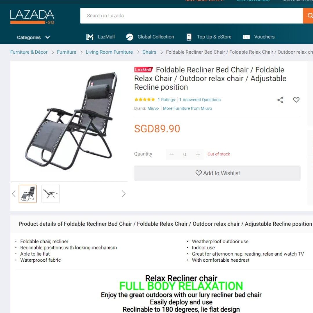 Awe Inspiring Letting Go Foldable Recliner Adjustable Chair Evergreenethics Interior Chair Design Evergreenethicsorg