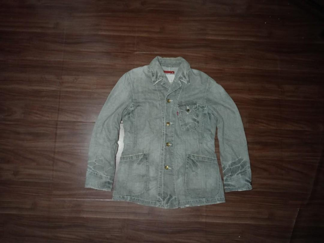 05b7fb7faff Levis Chore Blazer Jeans Denim Jacket not Denime Apc Nudie on Carousell