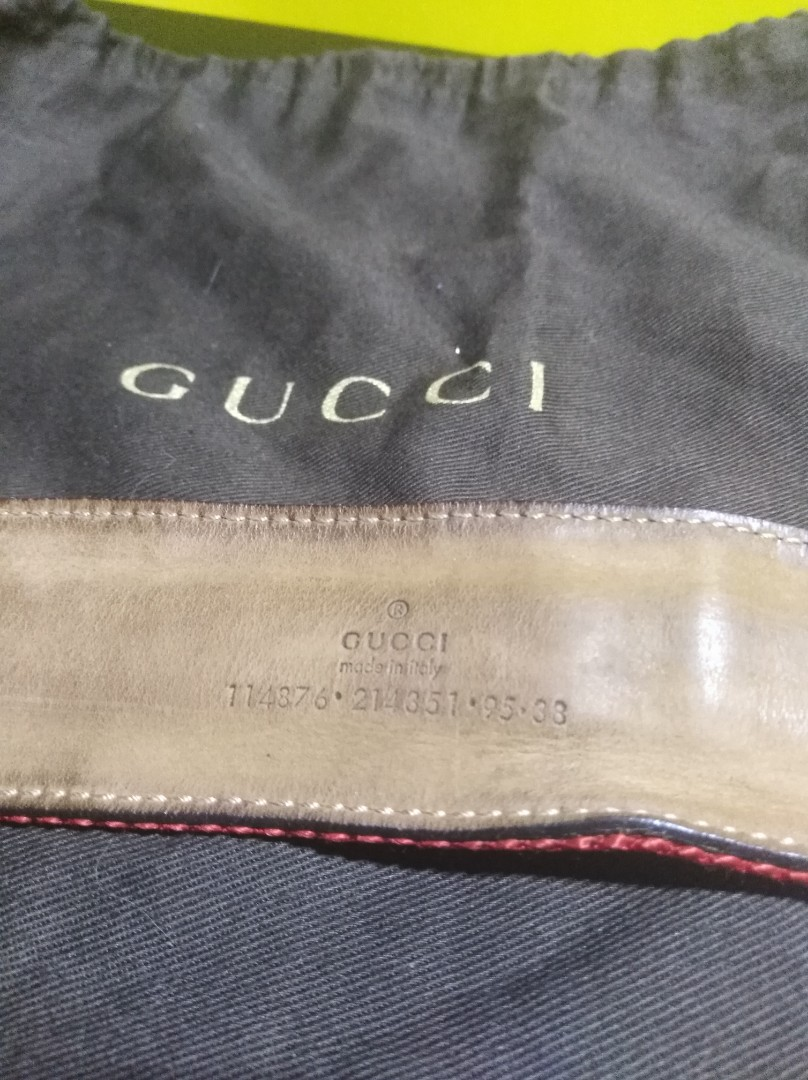 73f6469579a Limited Edition Authentic Gucci Belt Gold Buckle with dust bag ...