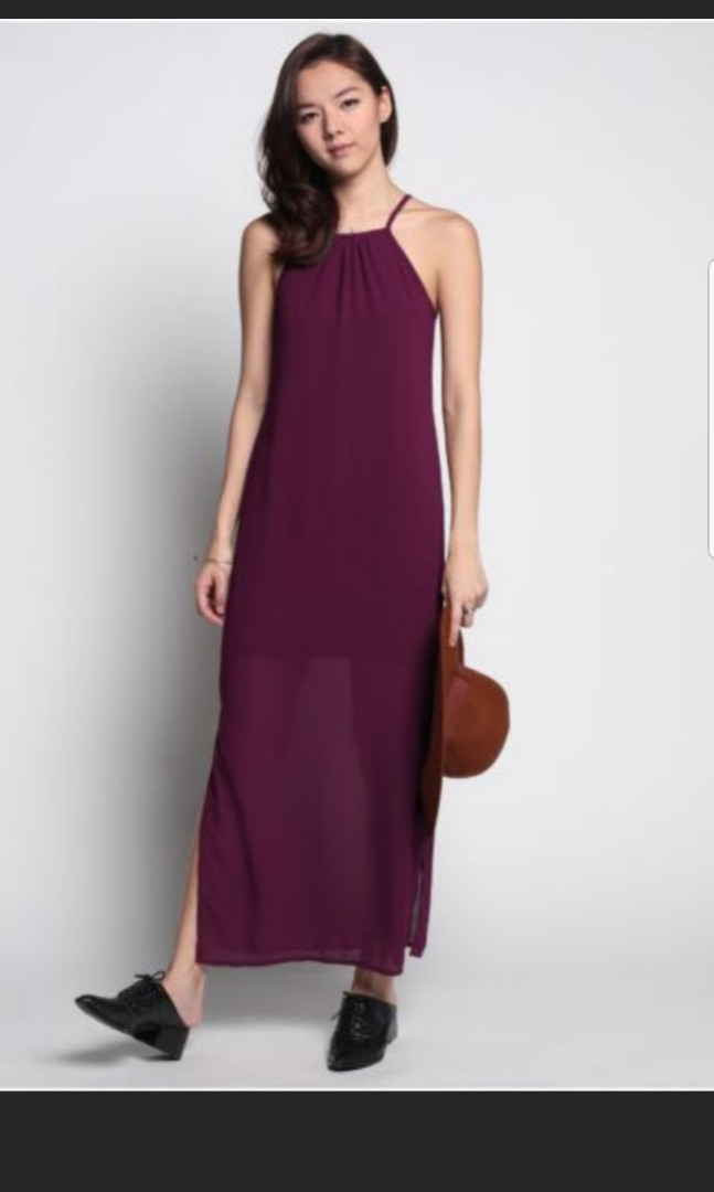 713420b5c9c Love Bonito maroon Maxi Dress