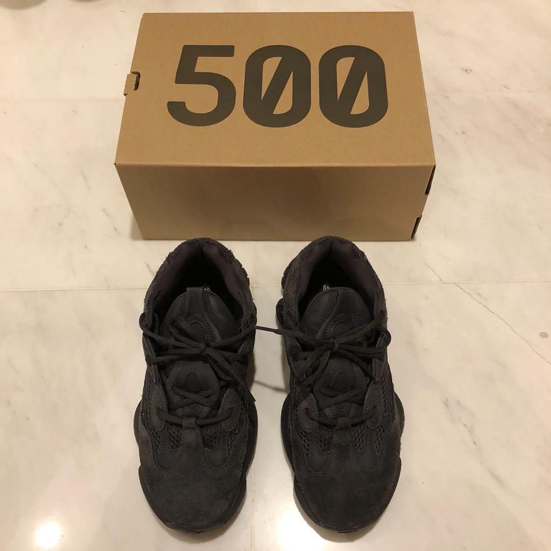 e1b3d4b63c569 meet Katong only  Yeezy boost 500 black mint condition us 8.5