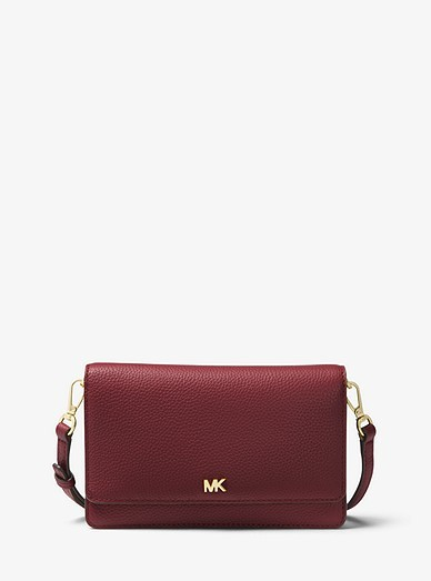 622b46db92ed99 Michael Kors Mercer Pebbled Leather Smartphone Crossbody, Luxury ...